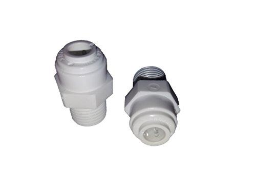 Repuesto kit recambio Ósmosis x2 Uds. Adaptador roscado Macho 1/4 - Conexión rápida tubo Flex 1/4.