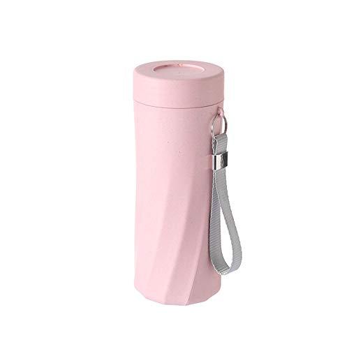 Jusemao Botella de agua helada libre de Bpa de 500 ml apta para botella de agua portátil al aire libre-polvo nórdico_500 ml