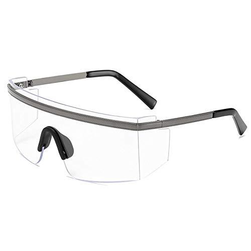 Gafas de sol Gafas de sol PC Vidrios continuos Anti-viento Sand Campeón espejo Gafas de exterior-Marco de armas de película transparente