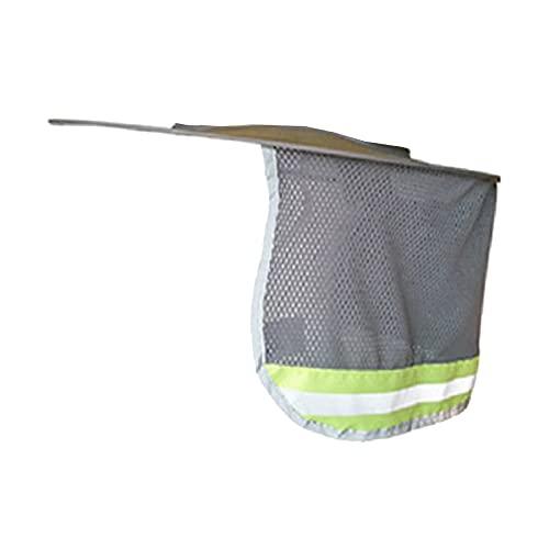 F Fityle Sombrero duro de ala completa Parasol para el cuello Escudo para el cuello Protección para el sol en el cuello para casco de seguridad - Gris