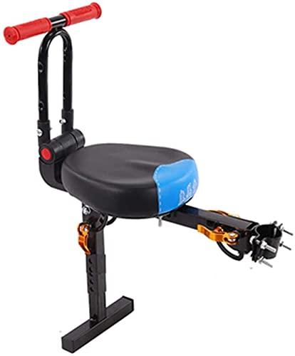 X&Y Sillín eléctrico para Bicicletas, Asiento de Bicicleta eléctrico para niños, Asiento de Bicicleta para niños con Mango Plegable (Color : Blue)