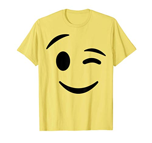 Halloween Emojis Costume Shirt Winking Face Wink Emoticon T-Shirt
