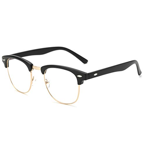 Pro Acme Blue Light Blocking Glasses Semi Rimless Frame Filter Blue Ray Computer Glasses (Matte Black)