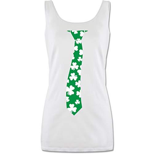 St. Patricks Day - St. Patrick's Day Krawatte - S - Weiß - Geschenk - P72 - Tanktop für Damen und Frauen Tops