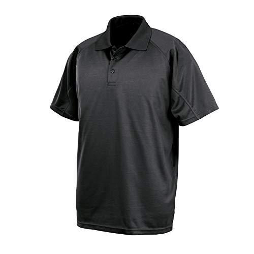 Spiro Impact Mens Performance Aircool Polo T-Shirt (L) (Black)