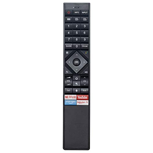 VINABTY ERF3A70 Mando a Distancia para Hisense LCD 4K TV ERF3A70 H50U7B H55U7B H65U7B T242506 49.5'' Hisense H50U7B 64.5'' Hisense H65U7B 54.6'' Hisense H55U7B