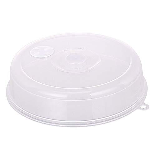 Vige Deckel für Mikrowellenplatte mit Dampfentlüftungsöffnungen Frischhaltedeckel Stapelbarer Deckel für Mikrowellen-Spritzschutz Verschlussdeckel - Transparent