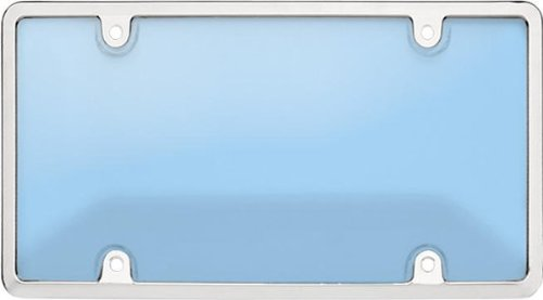Cruiser Accessories 62034 Tuf Bubble Novelty/License Plate Shield and Frame, Blue and Chrome