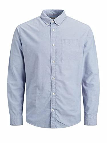 Jack & Jones Jjeoxford Shirt L/S S21 Noos Camisa, Azul Cashmere Fit: Slim Fit, XL para Hombre