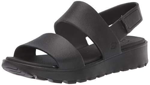 Skechers 111054-BBK_41, Sandalias al Aire Libre Mujer, Black, EU