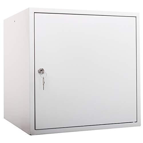 newpo Schließfachwürfel | HxBxT 45 x 45 x 45 cm | Grau | Garderobe Schließfach Schließfachschrank Schließwürfel Spind Umkleideschrank Wertsachenschrank