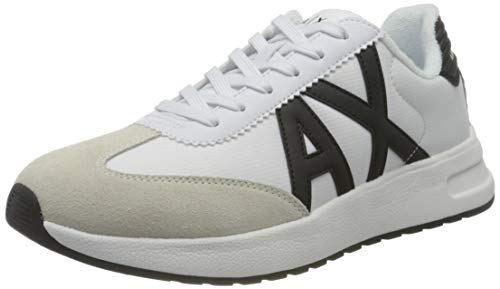 Armani Exchange Dusseldorf Volume Sole Running, Zapatillas Hombre, Op White Black, 43 EU