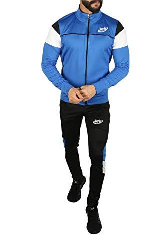 Yarin Herren Jogginganzug Trainingsanzug Männer Sportanzug Fitness Fitnessanzug (S, Blau)
