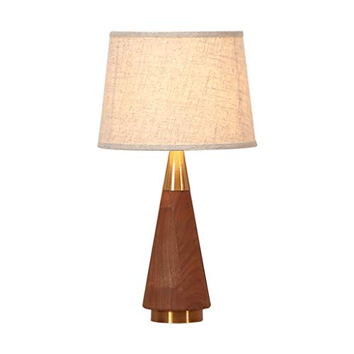 LXX Lámparas de Mesa de Nogal Moderna Simplicidad Creatividad de Dormitorio de Madera sólida...
