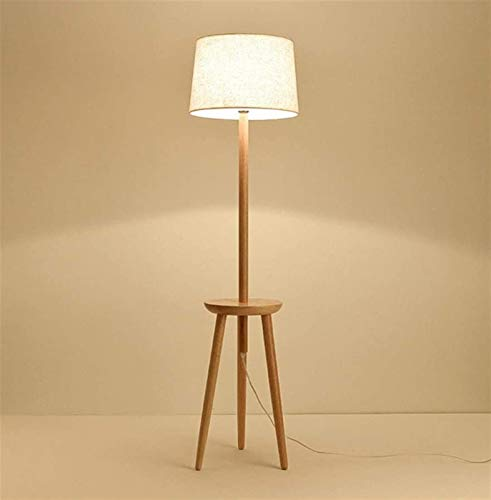 Sólido Madera Mesa de la lámpara, lámpara de pie Sala de almacenamiento lámpara moderna tejido de la habitación Estudio Triángulo Lámpara