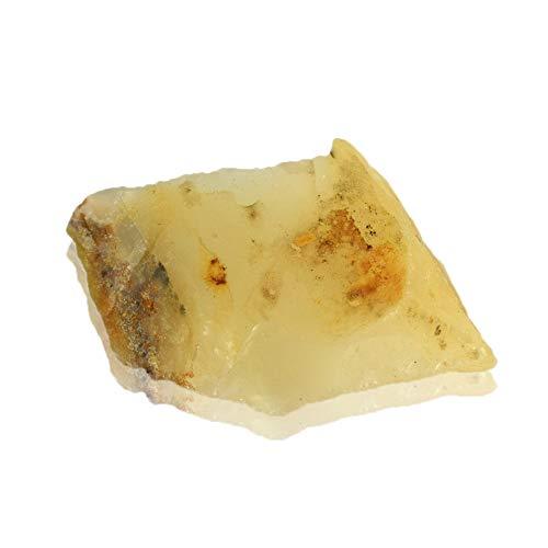 Real Gems Cristal de ópalo Amarillo Natural 39.50 CT Piedra áspera en Bruto de una Pieza para Curar Mina de Tierra Australiana Piedra Preciosa Suelta de ópalo