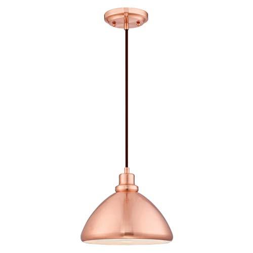 Westinghouse Lighting Lámpara de Techo Colgante de 1 Luz E27, Cobre Satinado, 152 cm