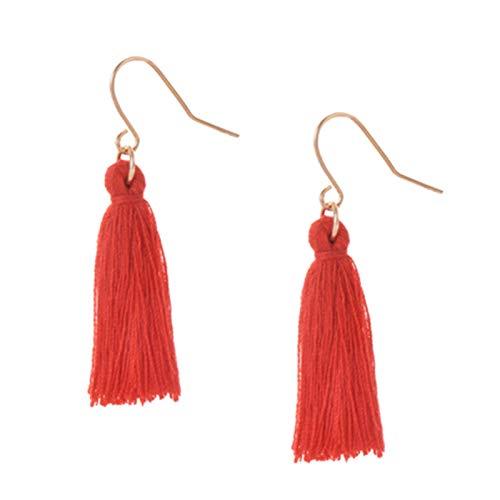 Burenqi Damesoorbellen sieraden eikel zwart rood kleur eenvoudig lang vintage charme oorbellen bruiloft party geschenk voor meisjes