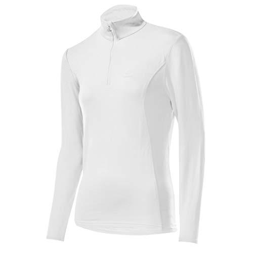 LÖFFLER Löffler DA. Transtex Basic Pull à col roulé zippé pour Femme XXL Blanc - Blanc