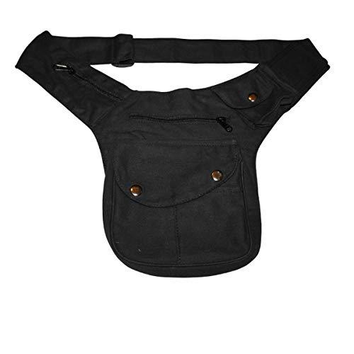 Freak Scene Tasche - Gürteltasche - Buddy - schwarz - silberfarben - Bauchtasche - Hüfttasche