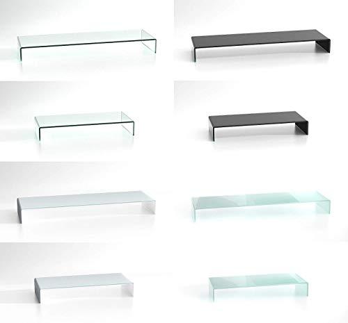 DURATABLE® Glasaufsatz Schwarz 1100 mm x 300 mm x 130 mm Glastisch LCD Laptop Aufsatz TV Aufsatz Fernsehtisch TV Tisch