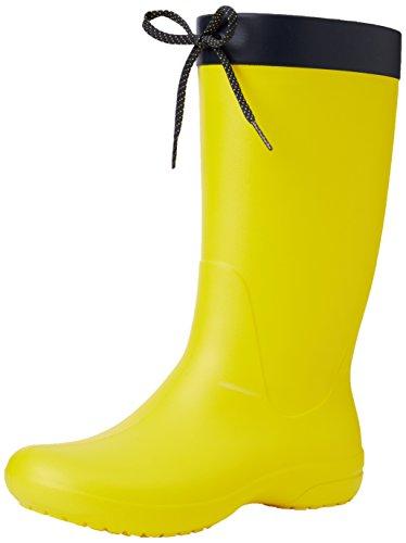 Bota de agua amarilla para mujer