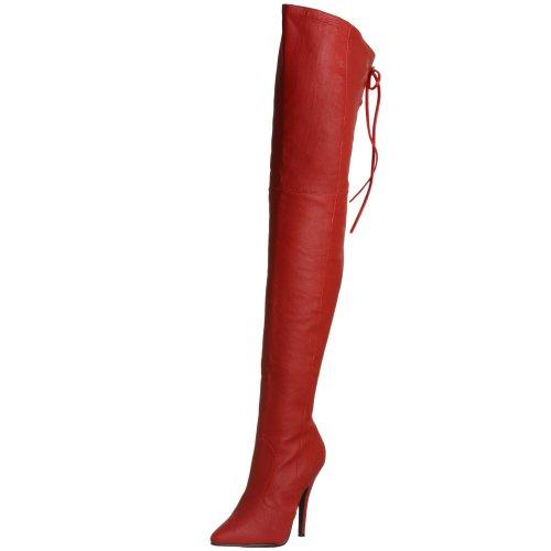 Pleaser Damen Legend-8899 Stiefel, Rot (rot), 42 EU