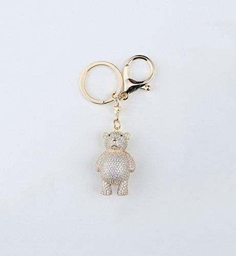 CKH schattige kleine beer sleutelhangers creatieve sleutelringen auto hanger pop