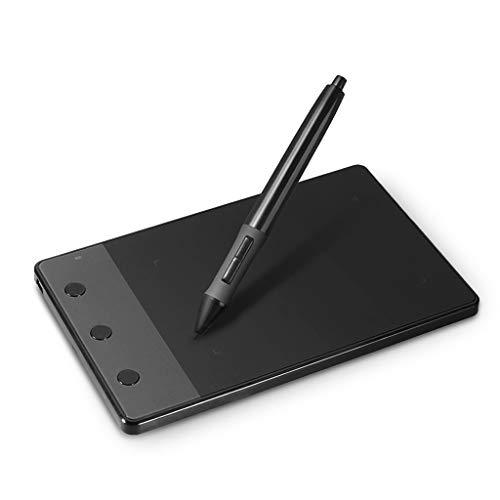 Negro para la pintura, tabla de dibujo original Huion H420 tableta gráfica + bolsa de forro de franela de 10 pulgadas + dos guantes antifouling de regalo, negro