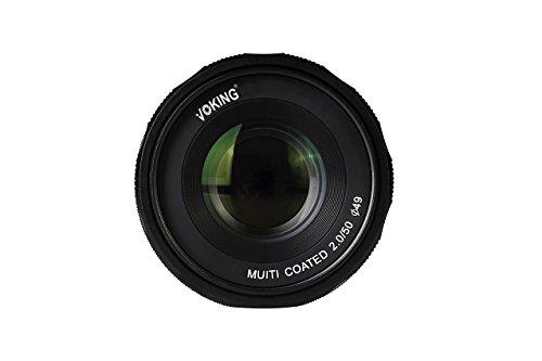 Voking by Bilora Objektiv APS-C 50 mm F2.0 manueller Focus 49 mm für FujiFilm Schwarz