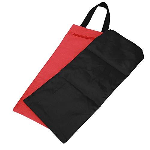 2 uds 41x18cm sin relleno bolsa de arena de peso libre accesorio de brazo fino para entrenamiento físico de yoga y entrenamiento de fuerza en interiores(rojo)