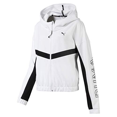PUMA Damen HIT Feel It Sweat Jacket Trainingsjacke, White, M