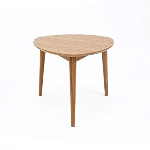 YUDIAN Coffee Table Side Tables Round Coffee Table End Table with Natural Oak Wood Legs Living Room Sofa Side (Size : 42 42CM)