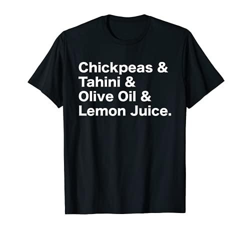 Garbanzos Tahini Houmus Hummus Receta Vegetariano Vegano Camiseta