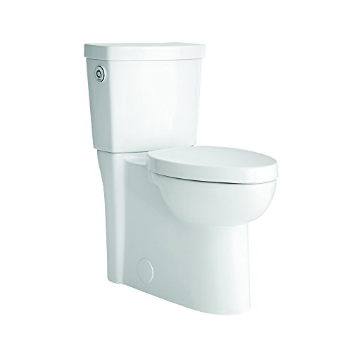 American Standard 2795119.020 Studio Activate Touchless Right Height Round Front Concealed Trapway 1.28 GPF Toilet (2 Piece), White