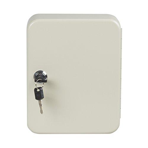 nxtbuy Schlüsselkasten inkl. Schlüsselanhänger abschließbarer Schlüsselschrank zum Aufhängen Schlüsselbox mit Zylinderschloss, Farbe:Beige, Größe:30 Haken