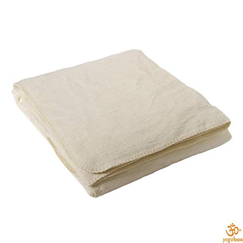 yogabox Coperta di Cotone Made in Germany, 100 x 150 cm