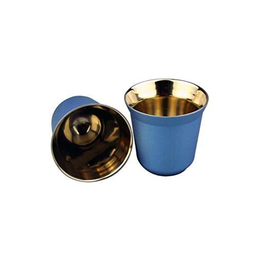 ATYBO Espressotassen 80ml 160ml 2er-Set, Espressotassen-Set aus Edelstahl, isolierte Tee-Kaffeetassen Doppelwandige Tassen Spülmaschinenfest