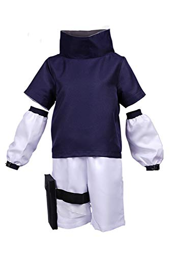 Enhopty Sasuke Uchiha Kinder Top Hose Outfits Halloween Karneval Suit Cosplay Kostüm Jungen XL