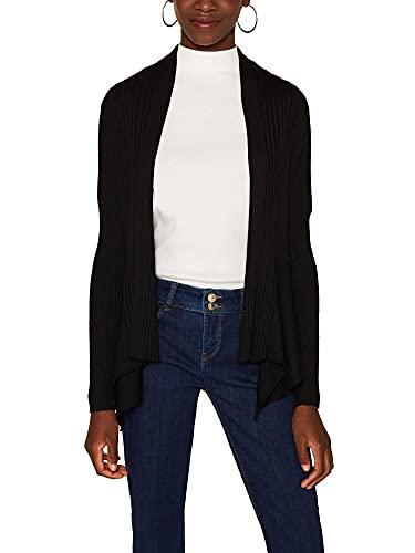 Esprit 998ee1i803 Chaqueta Punto, Negro (Black 001), M para Mujer