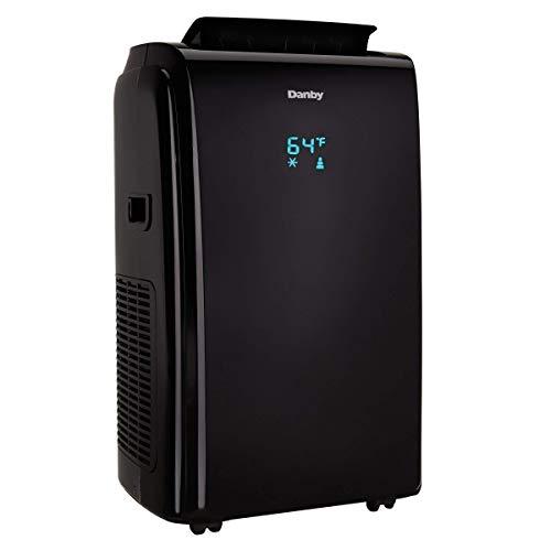 Danby 12000 BTU 3-in-1 Portable Air Conditioner and Dehumidifier + Remote, Black (Renewed)