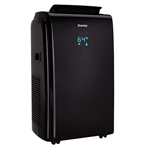 Danby 12000 BTU 3-in-1 Portable Air Conditioner and Dehumidifier + Remote, Black (Renewed)