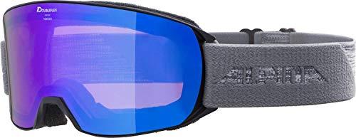 ALPINA NAKISKA Skibrille, Unisex– Erwachsene, black-grey, one size