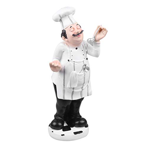 NONE 1 Unid Modelo de Chef de Estilo Europeo Mini Estatua de Cocinero Estatua de Chef Estatua de Resina Figuras de Chef Escultura para Regalos de Inauguración Coleccionables