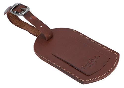 Etichetta per valigia Gusti Leder studio ''Victoria'' spazio per indirizzo gancio bagaglio marrone scuro 2A141-22-6