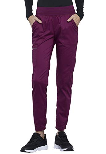 CHEROKEE Workwear WW Revolution Natural Rise Jogger, WW011, M, Wine
