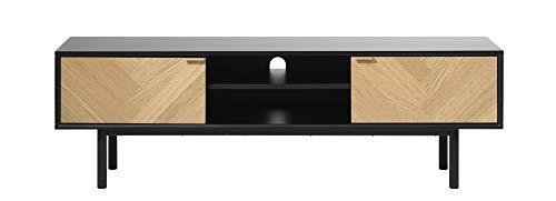 PKline TV Tisch Calvi Eiche Dekor Fernsehtisch Lowboard Sideboard Wohnzimmer Schrank