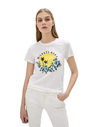 Michael Kors kurzärmliges Shirt Sunset MH95MF692S weiß, Weiß Medium