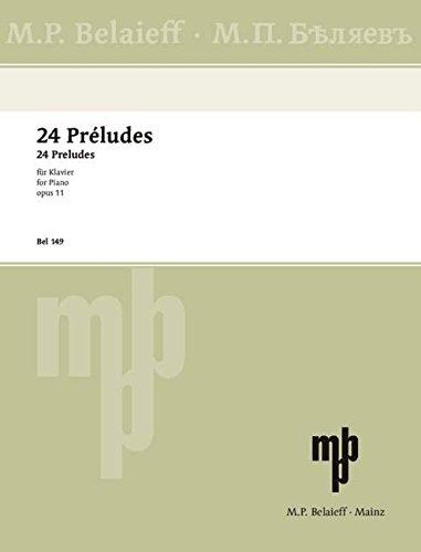 24 Préludes: op. 11. Klavier.