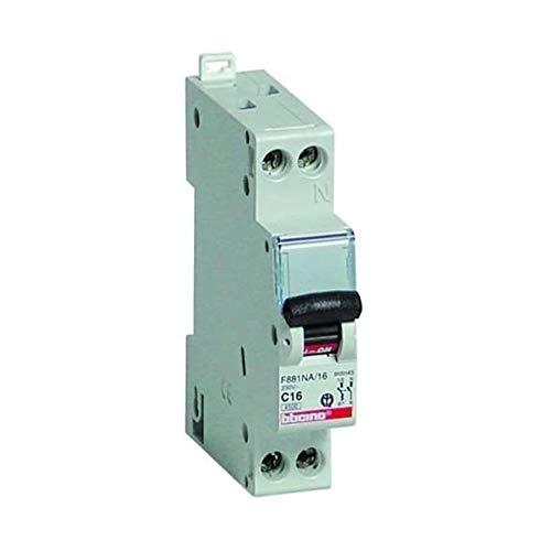 Interruptor automático magnetotérmico 1P + N Curva B 16 A 4,5 kA - Bticino LEGRAND F881NAB/10